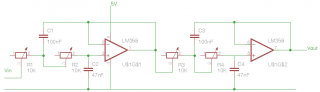 Low pass filter schematic